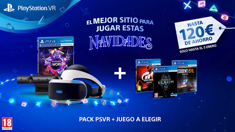 A PlayStation VR rebaixa o seu prezo durante as festas de Nadal