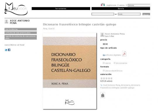 Meubook Edita En Formato Electrónico O Dicionario Castelán